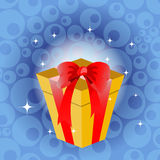 Birthday giftbox. Vector Illustration of birthday giftbox on the shiny background Royalty Free Stock Photography