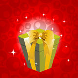 Birthday giftbox. Vector Illustration of birthday giftbox on the shiny background Royalty Free Stock Image