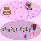 Birthday gifts and decoration Royalty Free Stock Photography