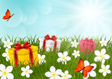 Birthday gifts Royalty Free Stock Photo