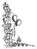 Birthday, gifts, illustration Royalty Free Stock Photos
