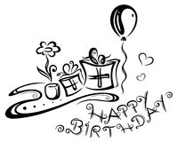 Birthday, gifts, illustration Royalty Free Stock Photography