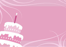 Birthday girl cake royalty free illustration