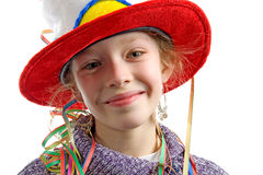 Birthday girl in closeup Royalty Free Stock Photography