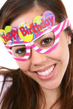 Birthday Girl Isolated Royalty Free Stock Photography