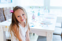 Birthday girl at party Royalty Free Stock Images