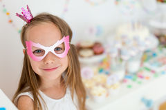 Birthday girl at party Stock Photography