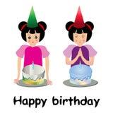 Birthday girls Royalty Free Stock Image