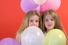 Birthday girls with a bunch of royalty free stock image