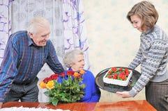Birthday grandmother Stock Photography