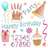 Birthday Graphics Royalty Free Stock Photography