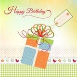 Birthday greeting stock illustration