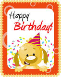 Birthday greeting. Cute doggy birthday greeting card Stock Photography