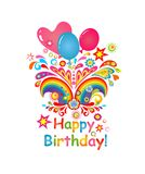 Birthday greeting Stock Image
