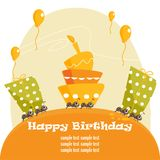 Birthday greeting card. Illustration Stock Photos