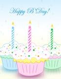 Birthday greeting card Stock Photography