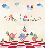 Birthday greeting card Stock Photography