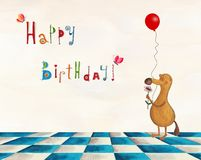 Birthday greeting card Royalty Free Stock Photos