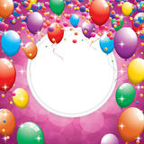 Birthday greeting card Royalty Free Stock Image