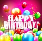 Birthday greeting card Royalty Free Stock Photography