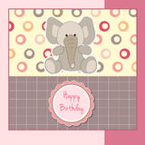Birthday greeting card with elephant Royalty Free Stock Image