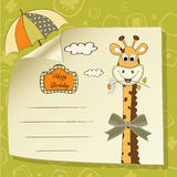 Birthday greeting card with giraffe royalty free illustration