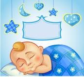 Birthday greeting card for newborn boy Stock Photo