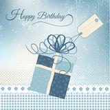 Birthday greeting card with present Royalty Free Stock Image