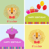 Birthday greeting card set Stock Photo