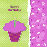 Birthday greeting card template Royalty Free Stock Photo