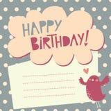Birthday greeting card vector illustration