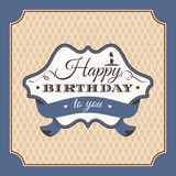 Birthday greeting card vector illustration Royalty Free Stock Images