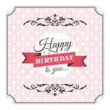 Birthday greeting card vector illustration Royalty Free Stock Photo