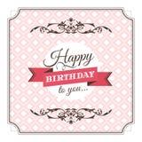 Birthday greeting card vector illustration Royalty Free Stock Photo