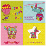 Birthday Greeting Cards for Kids Stock Images