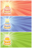 Birthday greeting cards set Royalty Free Stock Photo