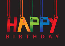 Birthday greeting hanging in the air. Royalty Free Stock Photo