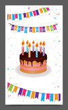 Birthday greeting and Invitation card design Royalty Free Stock Photography