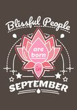 Blissful People are Born in September Stock Images