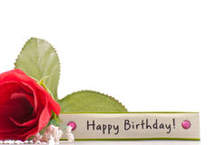 Birthday Greetings. Background Concept with Custom Space for Text royalty free stock images