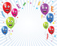 Birthday greetings card balloons Stock Image
