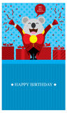 Birthday Greetings with Koala Stock Photos