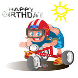 Birthday greetings for the rider Stock Photo