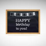 Birthday greetings on schoolboard Royalty Free Stock Photography