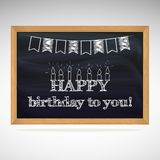 Birthday greetings on schoolboard Royalty Free Stock Photo