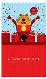 Birthday Greetings with Tiger Royalty Free Stock Photos