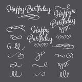 Set inscriptions happy birthday Royalty Free Stock Images