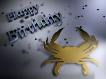 Birthday greetings - Zodiac Cancer Royalty Free Stock Images