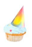Birthday hat cupcake Stock Photo