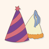 Birthday hat theme elements vector,eps. Vector illustration file Stock Photo